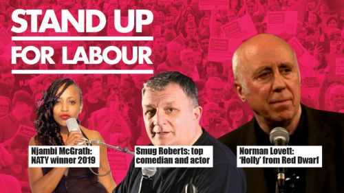 Stand up for Labour - Stafford, Thursday 11th April, 7:30pm (earlybird)