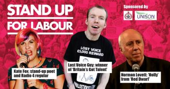 Stand up for Labour - Sedgefield, Wednesday 18th September, 7:30pm (earlybird)