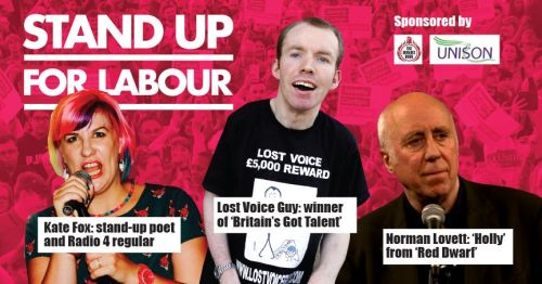 Stand up for Labour - Sedgefield, Wednesday 18th September, 7:30pm (earlybi