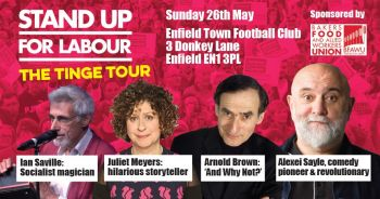 THE TINGE TOUR - Enfield North, Sunday 26th May, 7:30pm (Advanced ticket)
