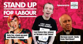 Stand up for Labour - North West Durham, Thursday 19th September, 7:30pm (earlybird)