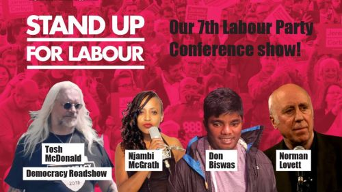 Stand up for Labour at the Brighton Party Conference (Monday 23rd September