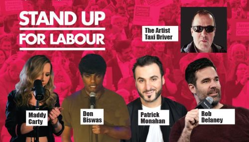 Stand up for Labour - Islington, Tuesday 19th November, 7:30pm (earlybird)