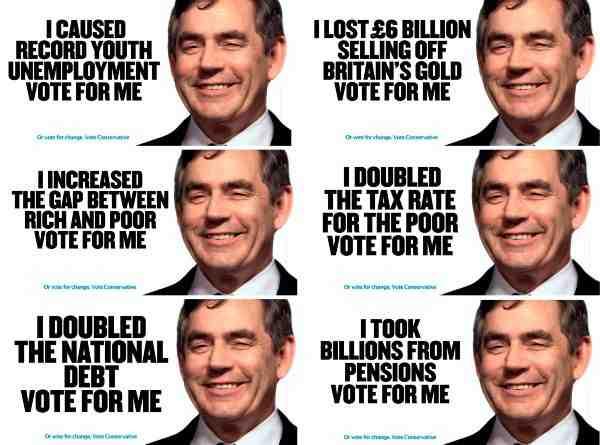 Gordon Brown posters