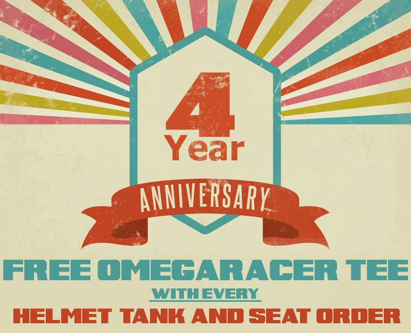 Omega Racer 4 Year Anniversary Sale