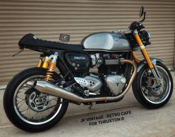"Triumph Thruxton R - JP Custom Seat ""Retro Cafe"""