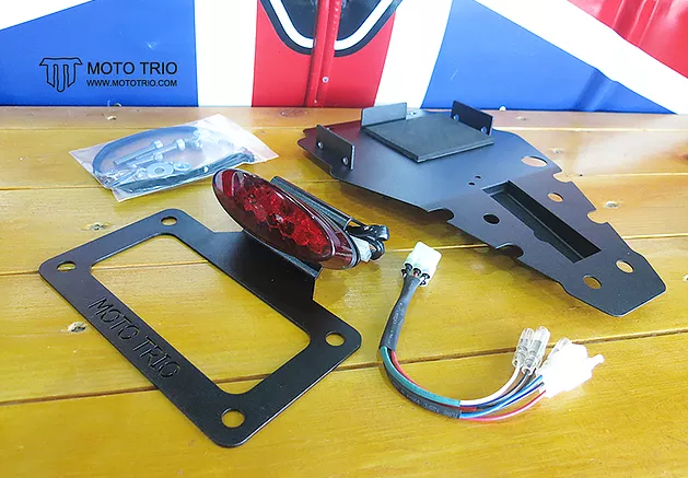 Triumph Thruxton R - MotoTrio Fender Eliminator Kit - Red Lens