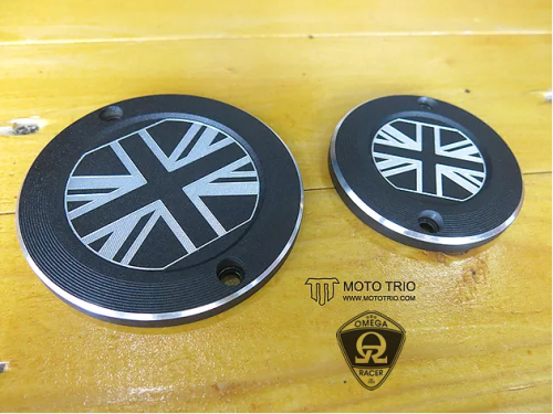 MotoTrio - Union Jack Badges