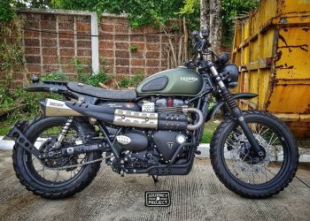 "Triumph Street Scrambler - JP Custom Seat ""Single Slim"""