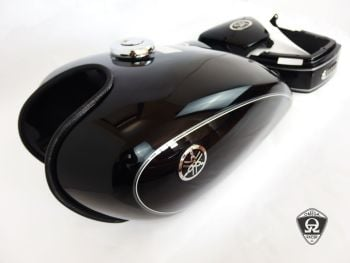 Yamaha SR400 - Tank and Covers Set (black) Y 2007