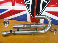 MotoTrio - H-Pipe/ De-Cat for Triumph Street Scrambler