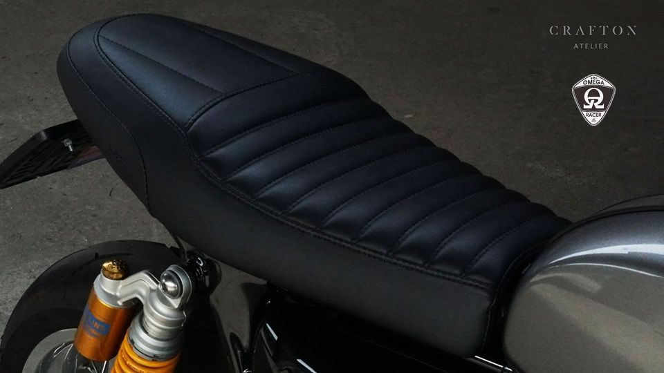 Crafton Atelier - Thruxton R Custom Seat - Greaser
