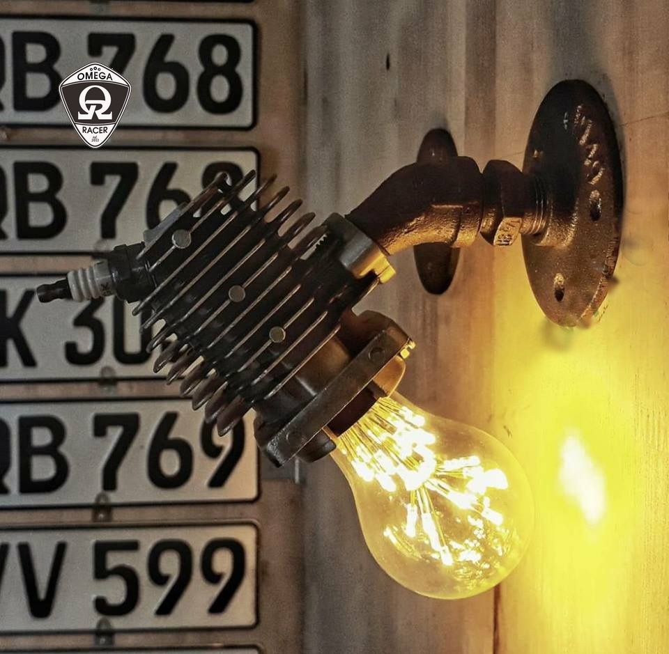 SteamPunk Engine Lamp - Wall Mount type 1