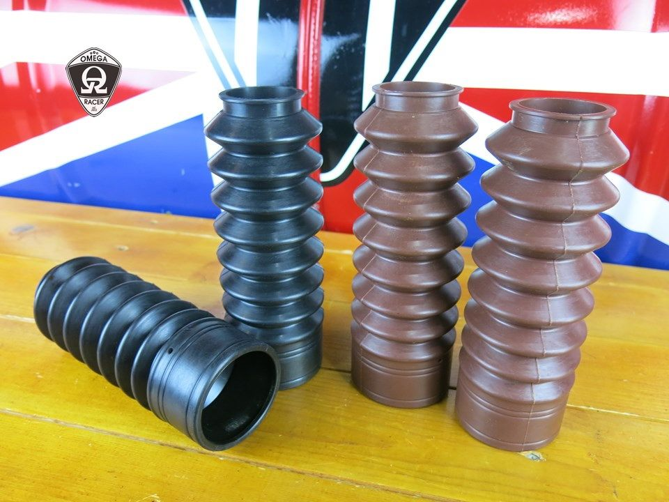 MotoTrio - Royal Enfield - Rubber Shock Covers