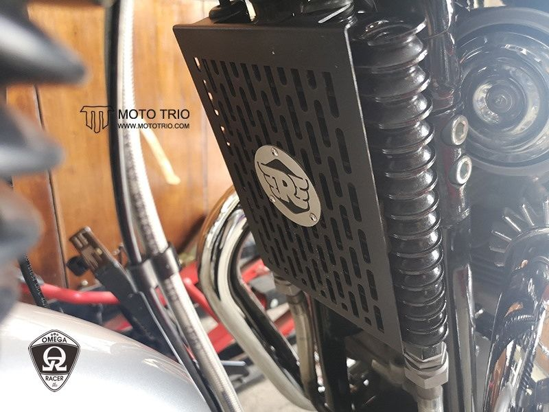 OmegaRacer MotoTrio Royal Enfield Cooler Guard (7)