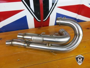 MotoTrio - H-Pipe/ De-Cat for Triumph Scrambler 1200
