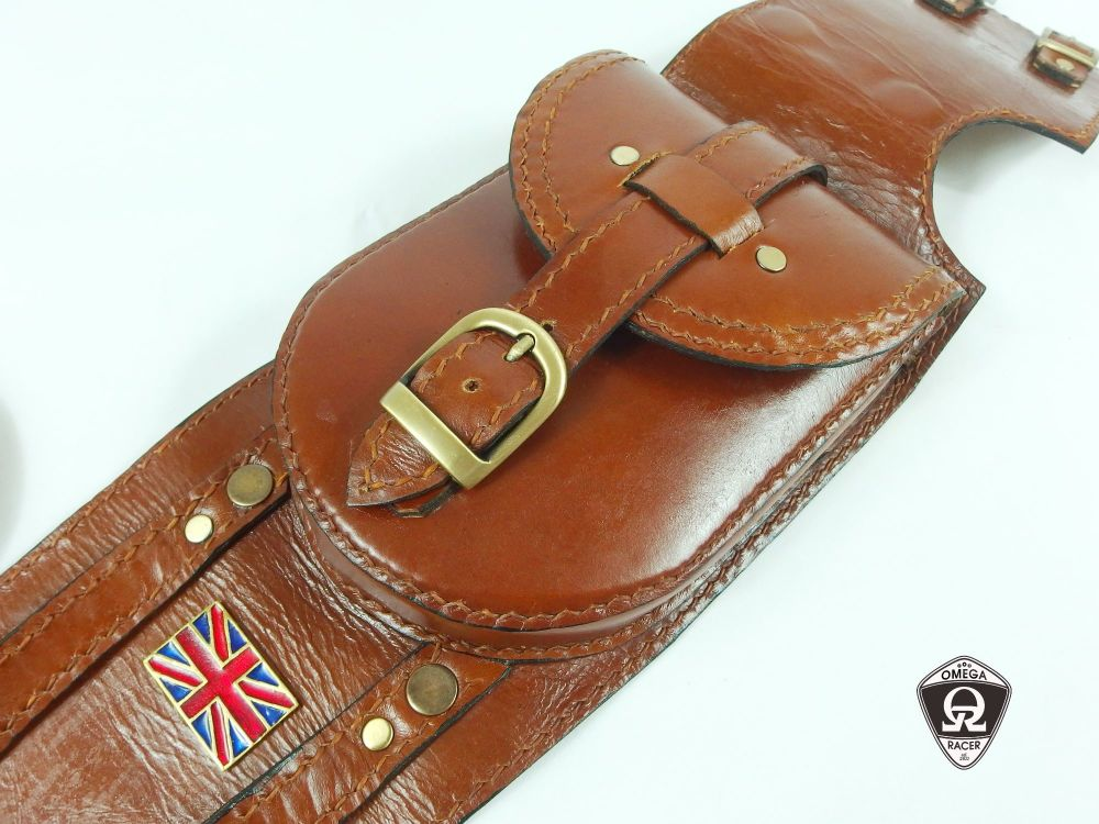Genuine Leather Tank Strap and Pouch