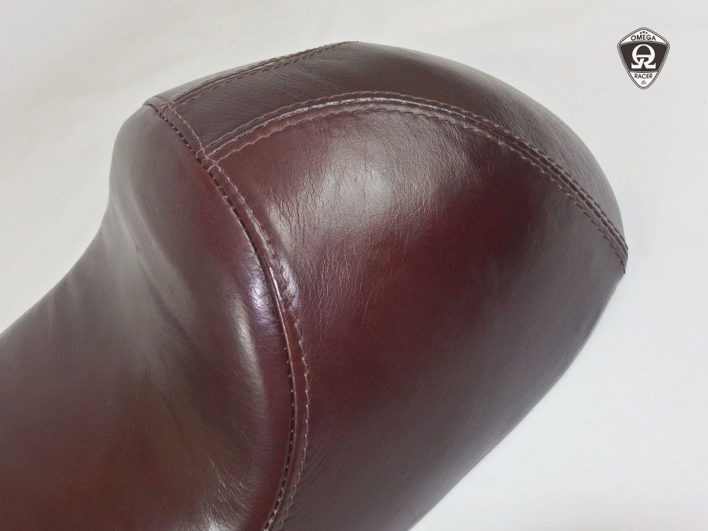 OmegaRacer RoyalEnfield leather seat Pure Cafe (3)