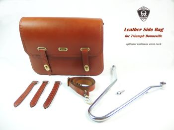 "Leather side bag ""Journey"" (with rack)"