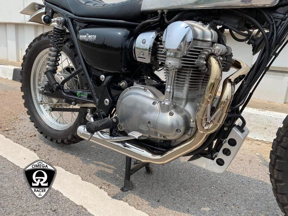 OmegaRacer W650 W800 Shorty Exhaust System (1)