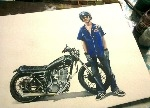 Motorcycle Art - Bike Painting