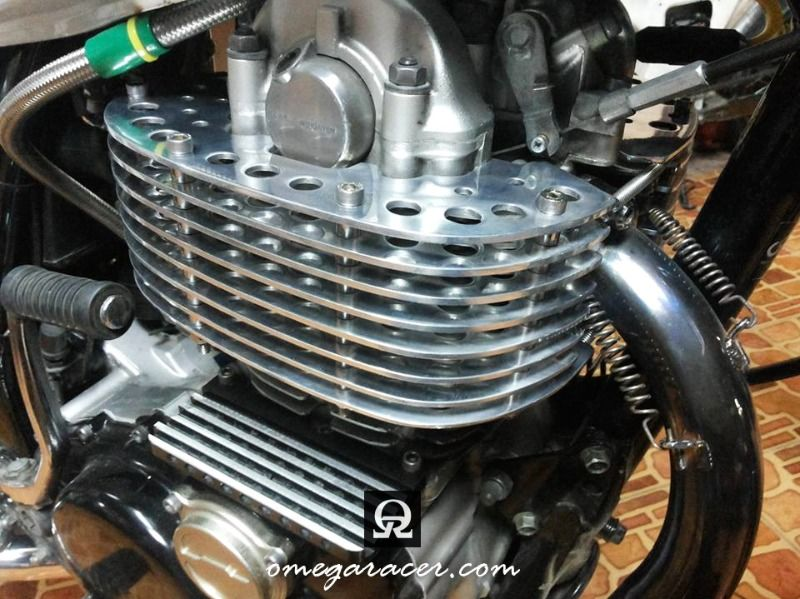 yamaha sr500 custom parts engine cooling fins omega racer