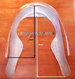 Kawasaki W650 1/2 Fairing Dimensions Top