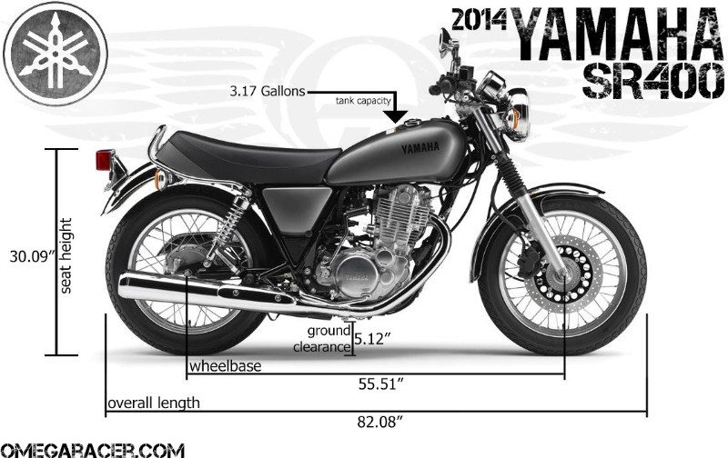 2014 yamaha sr 400 technical specifications omega racer. Black Bedroom Furniture Sets. Home Design Ideas