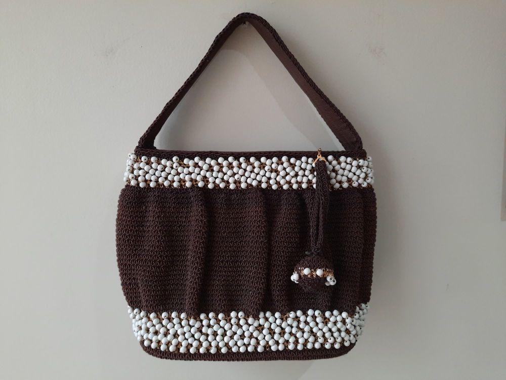 Brown Bobble Handbag