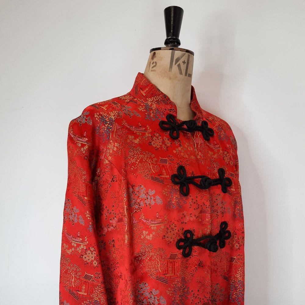 Vintage oriental brocade coat