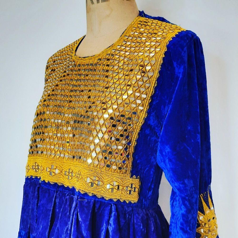 Vintage Velvet Afghan Dress