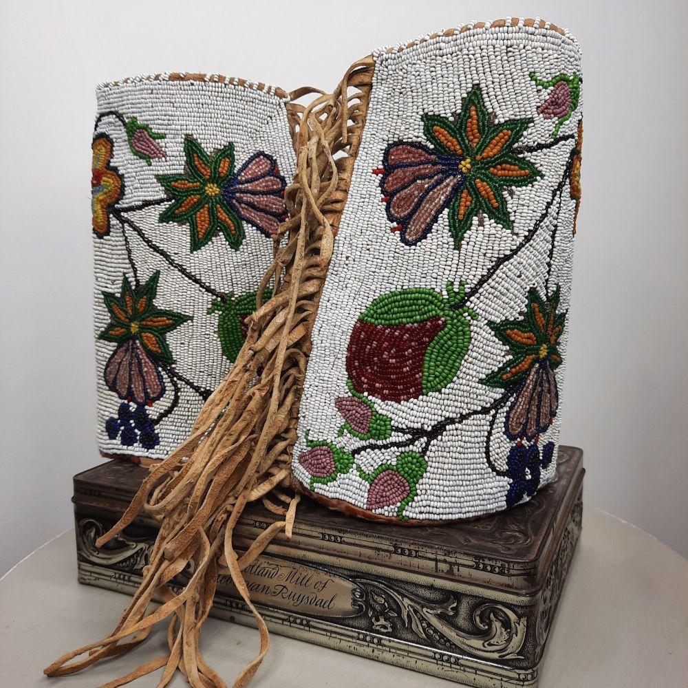 Rare Native American beaded cuffs.