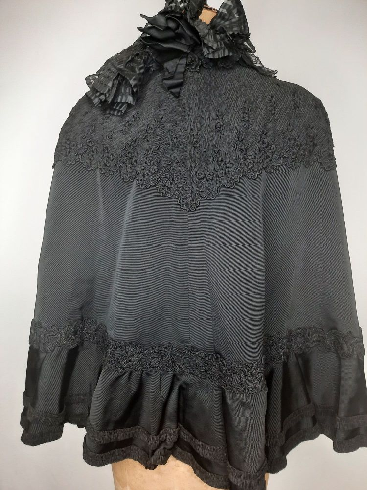 Antique black cape by Cole Brothers Sheffield.