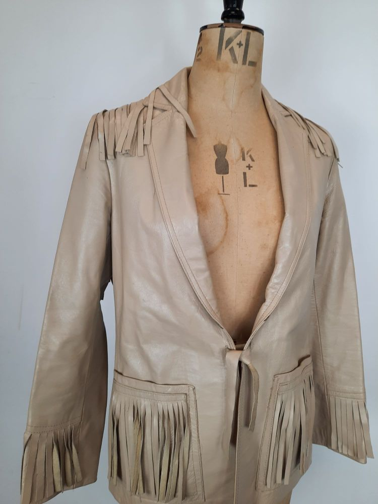 Vintage David Conrad Fringed Leather Jacket