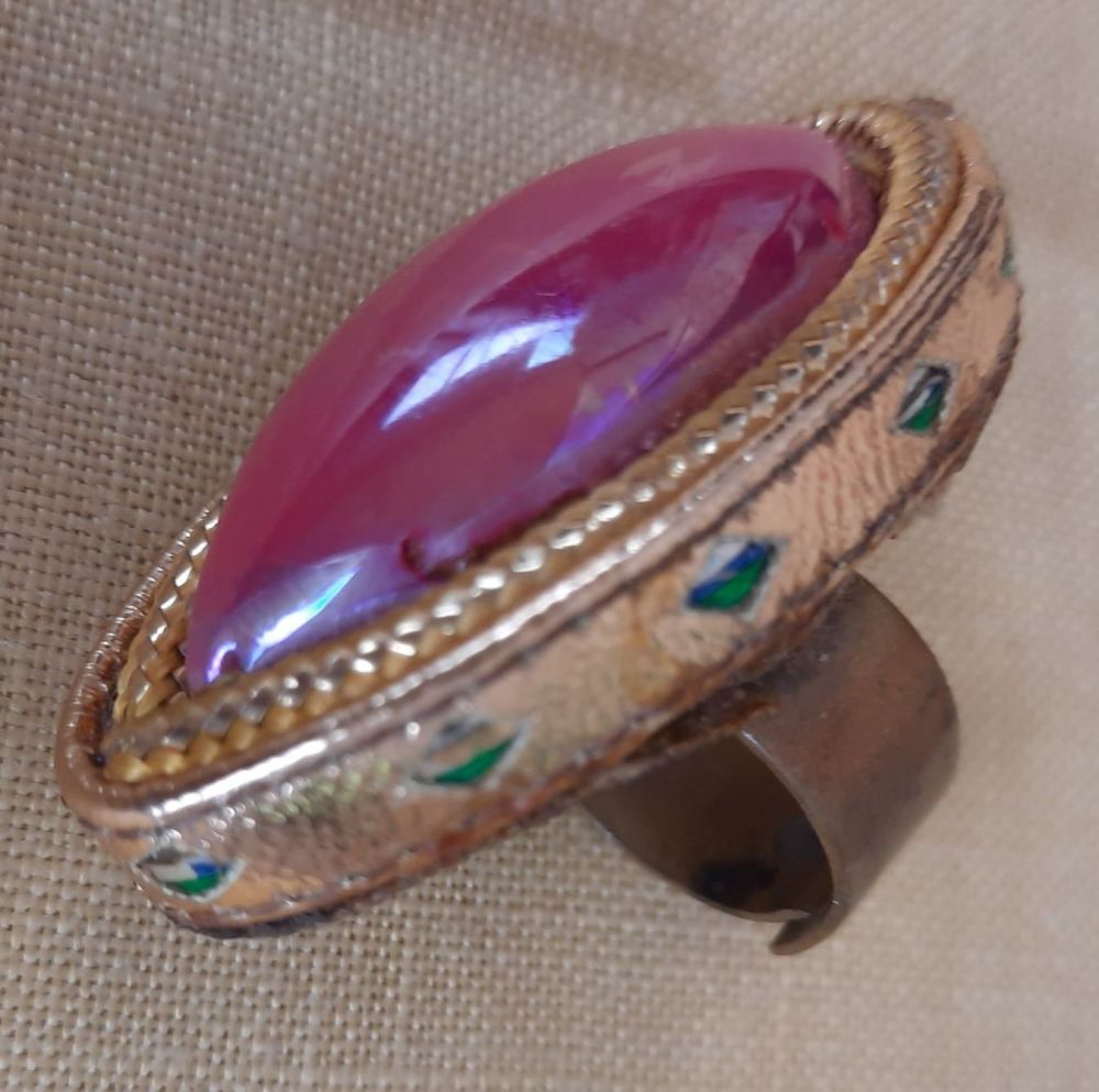 Theatrical Costume Ring- Pink