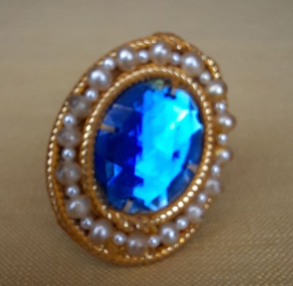 Theatrical Costume Ring- Blue