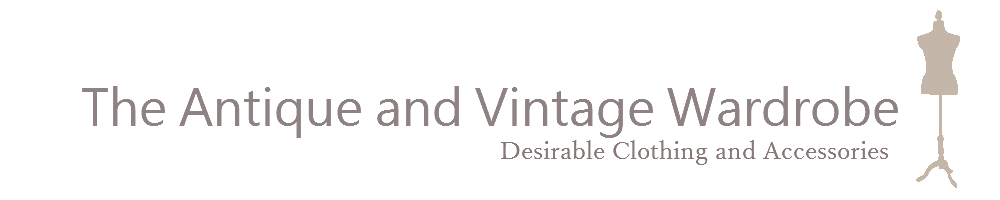 The Antique and Vintage Wardrobe, site logo.