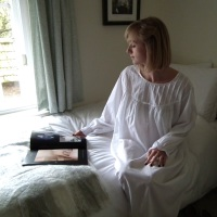 Long Sleeved Cotton Nightdress - Heather