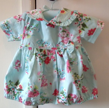 Baby Cotton Romper - Blue Floral