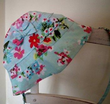 Cotton Sun Bonnet - Blue Floral