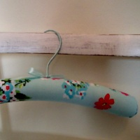 Child's Padded Coat Hangers - Blue Floral