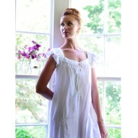 Ladies Short Sleeved Cotton Nightdress - Margo