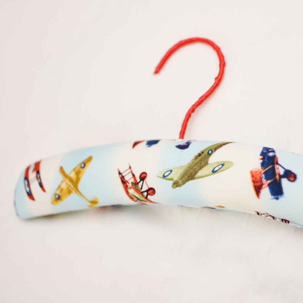 Child's Padded Coathanger - Vintage Plane