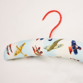 Child's Padded Coat Hangers - Vintage Plane