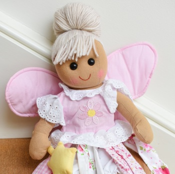 Traditional, Soft-Bodied Rag Doll Dressed As A Fairy With A Wand
