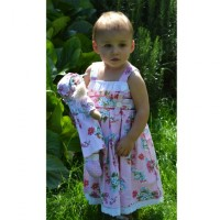 Girl's Cotton Dress - Pink Floral