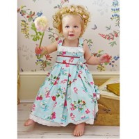 Girl's Cotton Dress - Blue Floral
