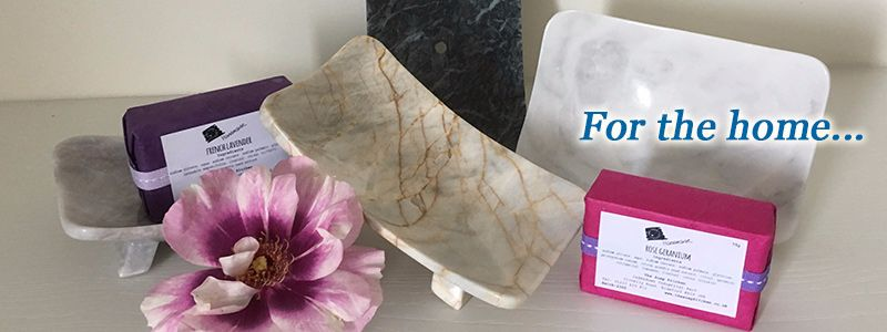 Soap dishes and home accessories.