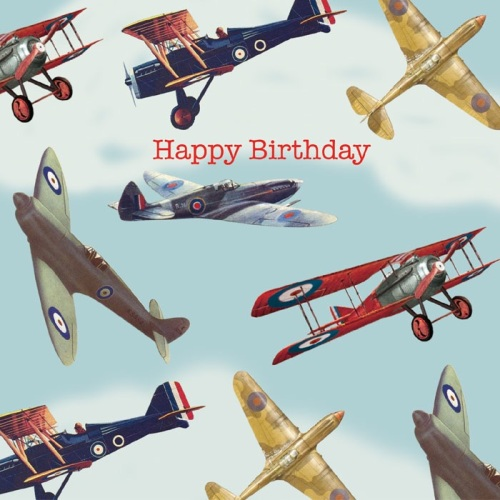 Birthday Card - Vintage Plane