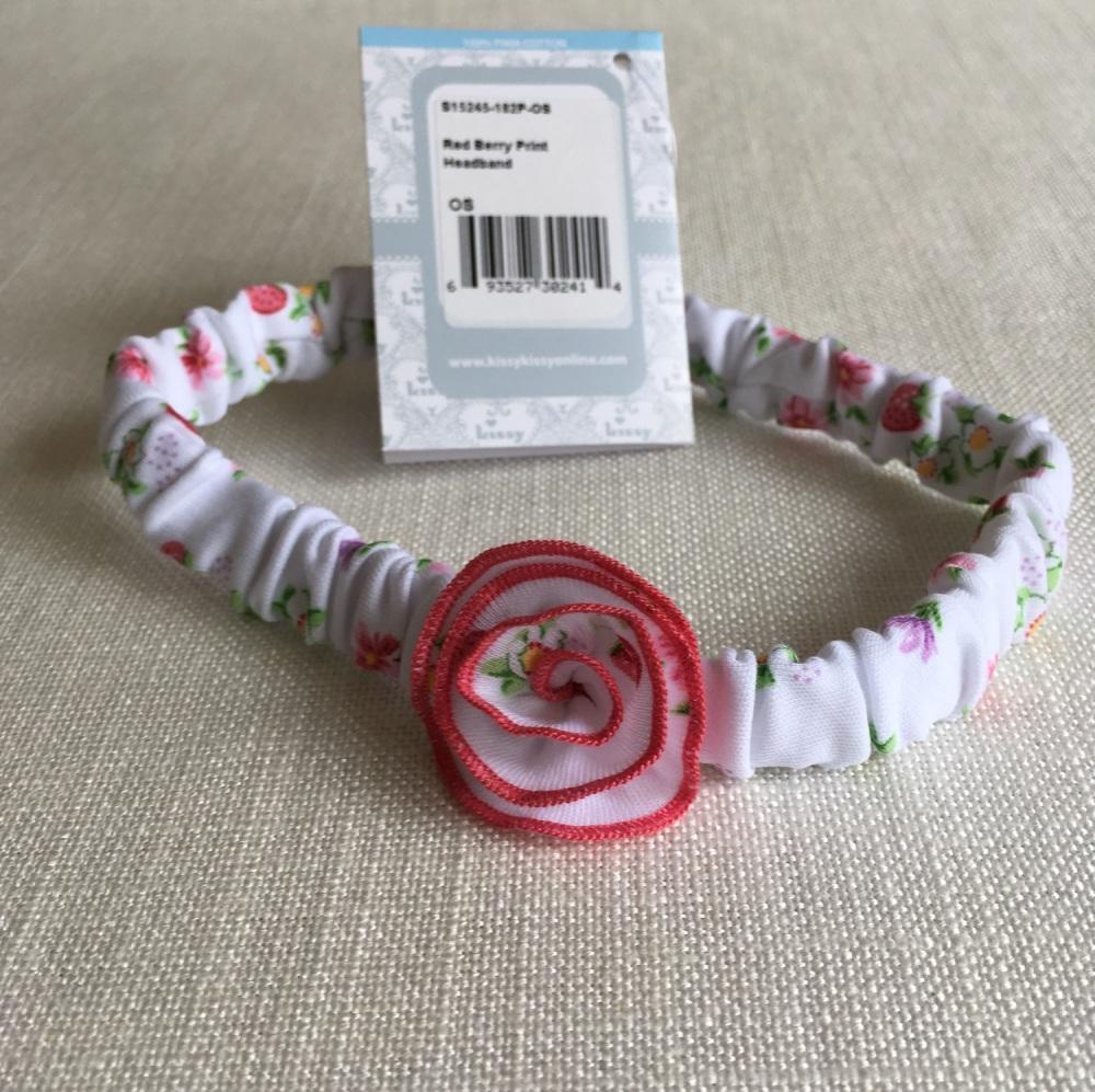 Red Berry Baby Headband by Kissy Kissy